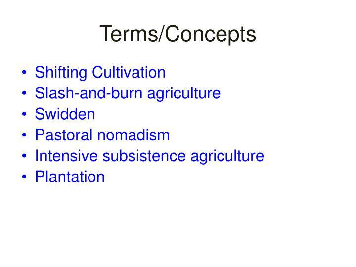 Terms/Concepts