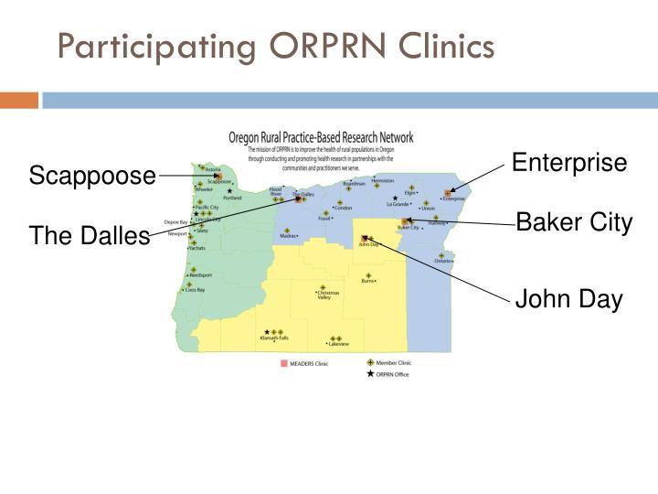 Participating ORPRN Clinics