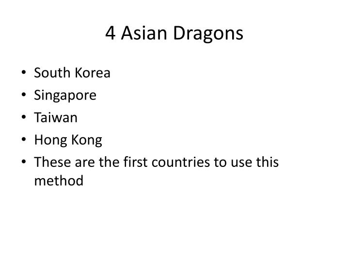 4 Asian Dragons