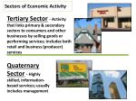 sectors of economic activity1