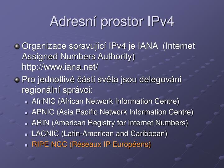 Adresní prostor IPv4