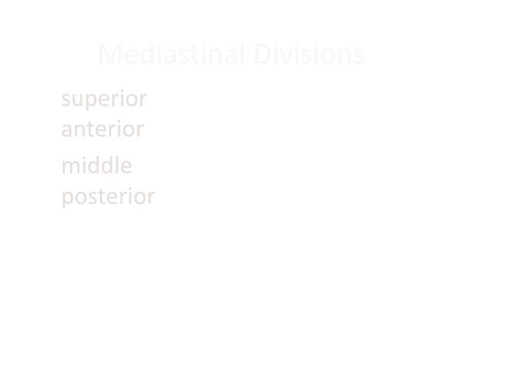 Mediastinal