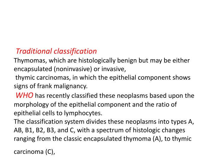 Traditional classification