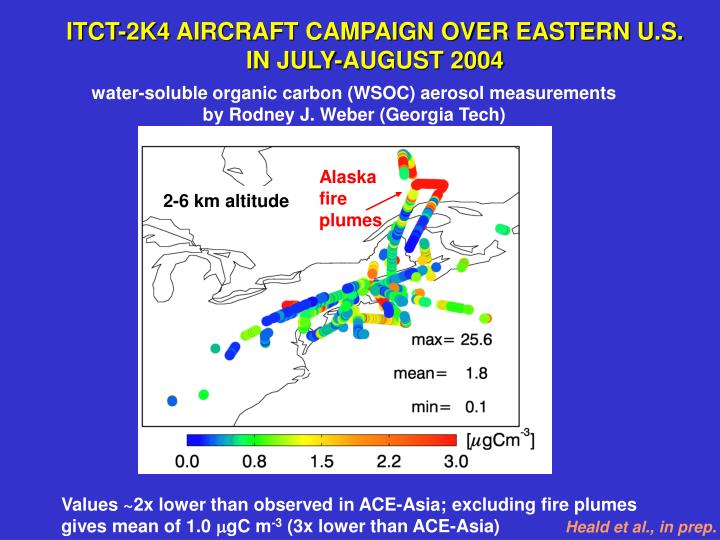 ITCT-2K4 AIRCRAFT CAMPAIGN OVER EASTERN U.S.