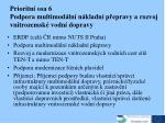 priori tn osa 6 podpora multimod ln n kladn p epravy a rozvoj vnitrozemsk vodn dopravy