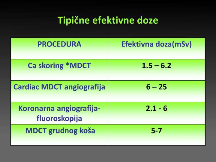 Tipične efektivne doze