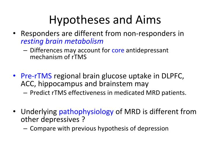 Hypotheses and Aims