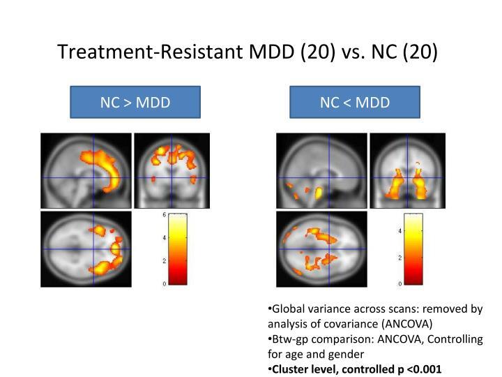 Treatment-Resistant MDD (20) vs. NC (20)