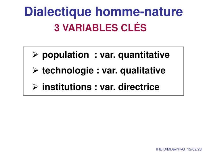 Dialectique homme-nature