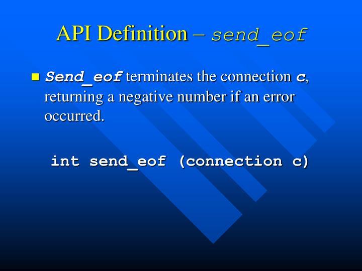 API Definition –