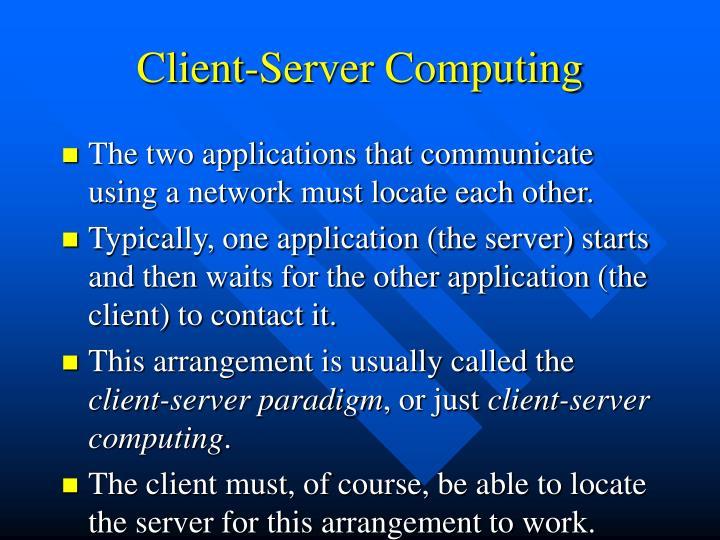 Client-Server Computing
