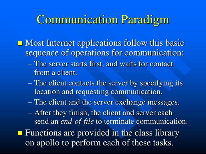 Communication Paradigm