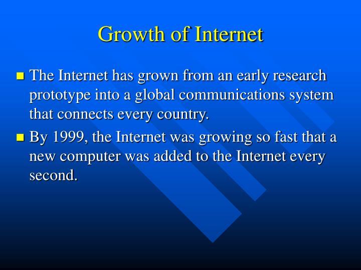 Growth of Internet