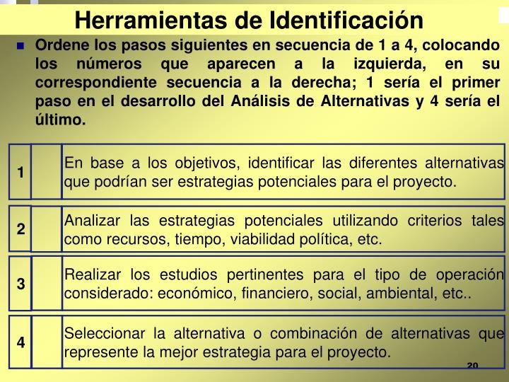 Herramientas de Identificación
