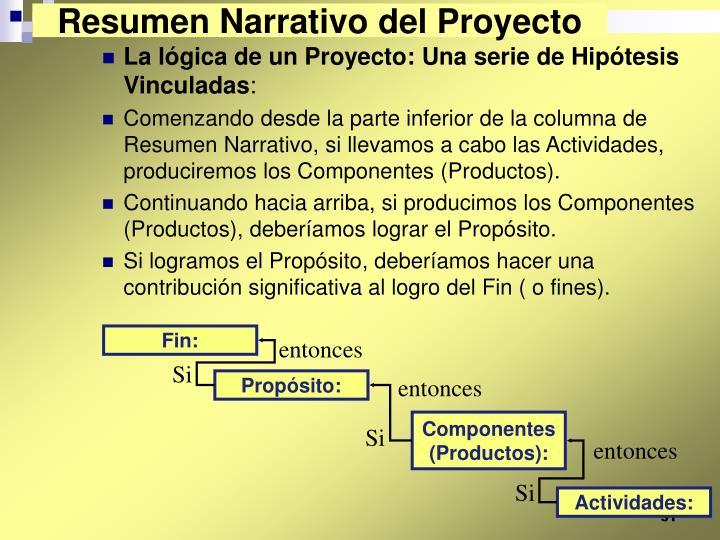 Resumen Narrativo del Proyecto