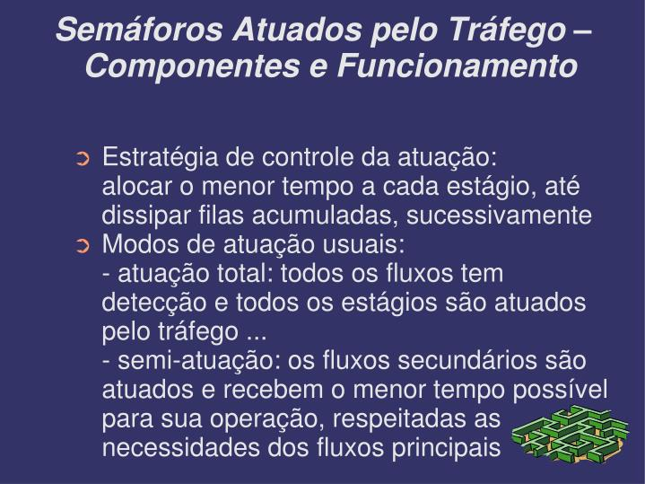 Semáforos Atuados pelo Tráfego – Componentes e Funcionamento