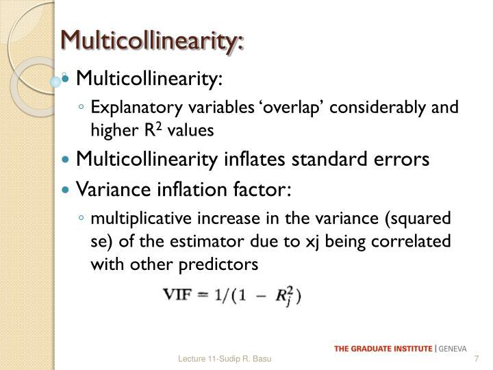 Multicollinearity:
