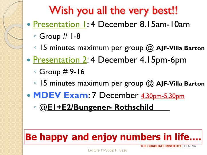 Wish you all the very best!!