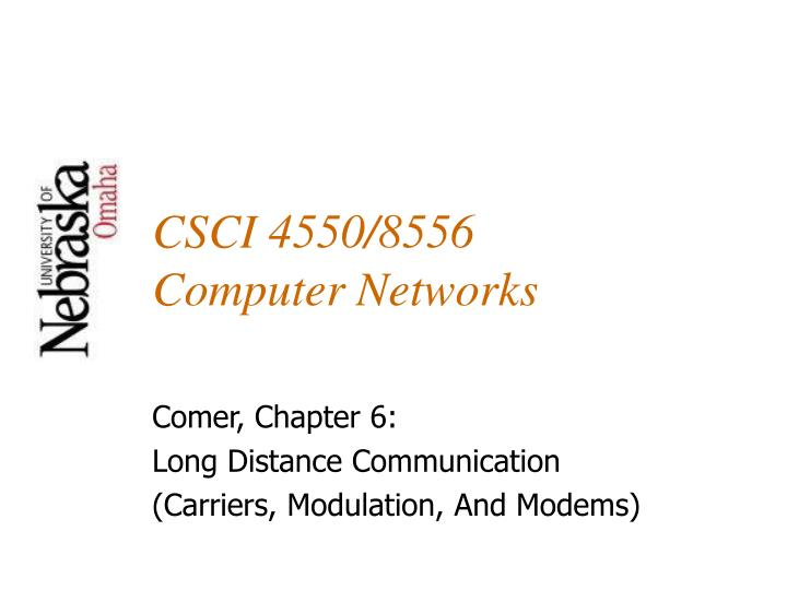 Csci 4550 8556 computer networks