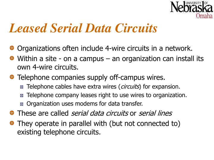 Leased Serial Data Circuits