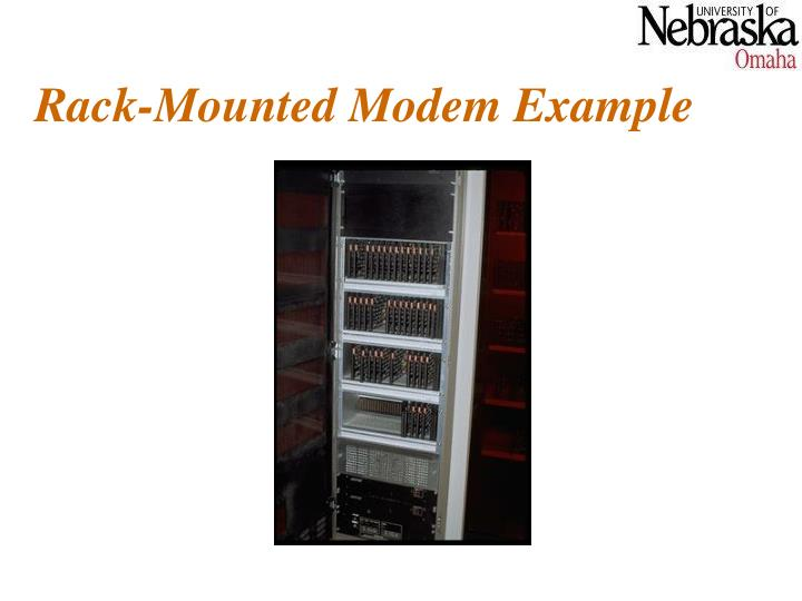 Rack-Mounted Modem Example