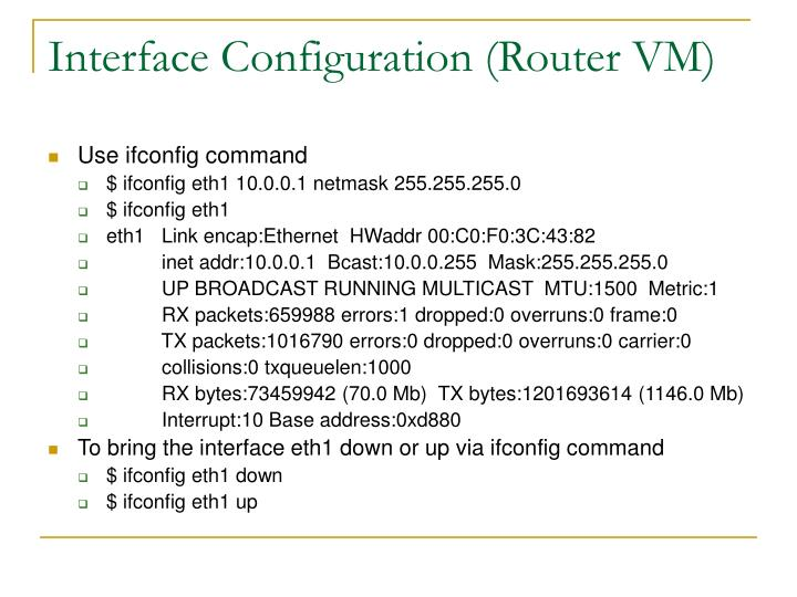 Interface Configuration (Router VM)