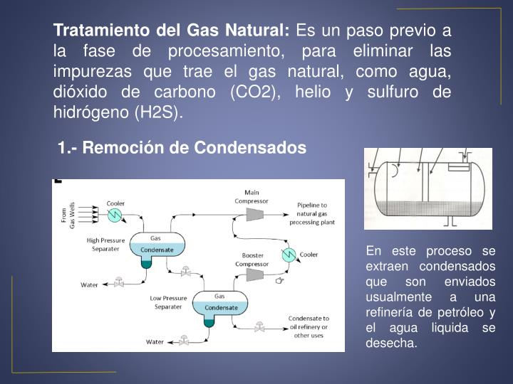 Tratamiento del Gas Natural: