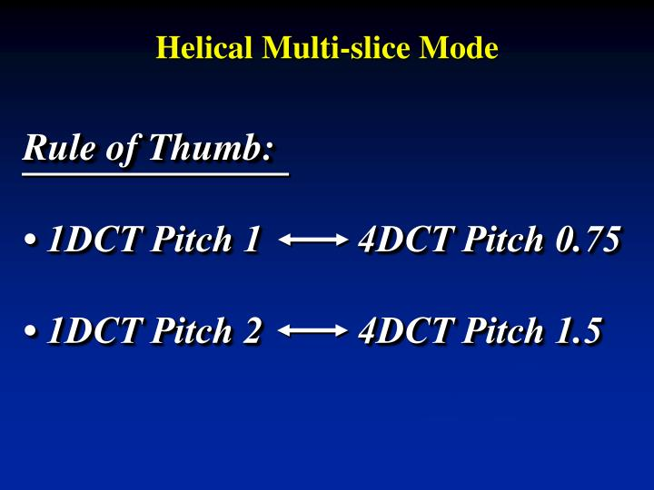 Helical Multi-slice Mode