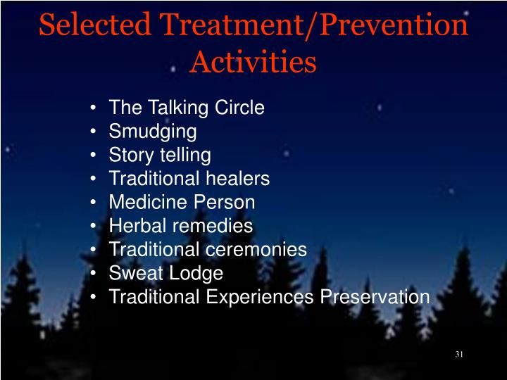 Selected Treatment/Prevention Activities