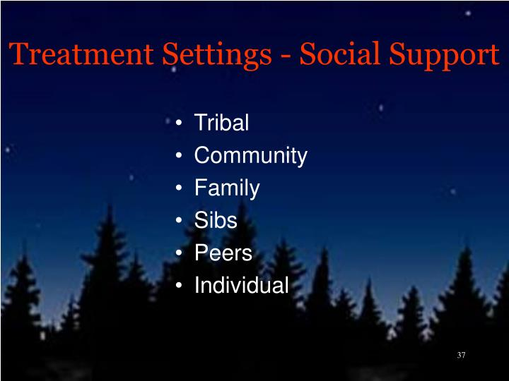 Treatment Settings - Social Support