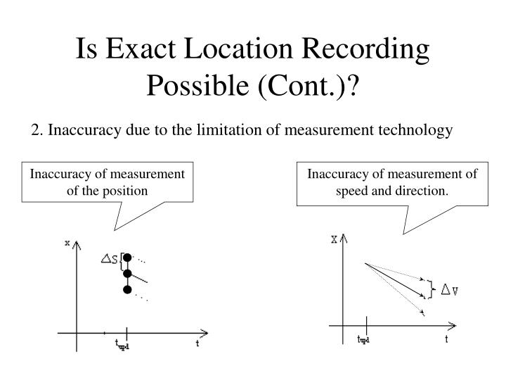 Is Exact Location Recording Possible (Cont.)?