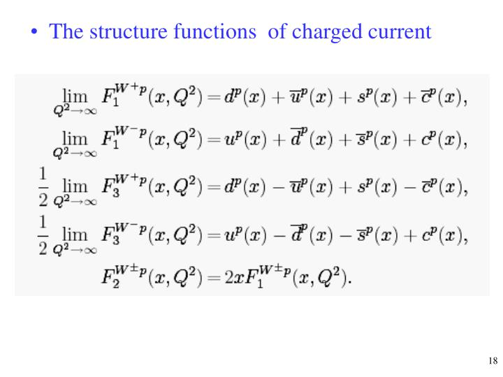 The structure functions  of charged current