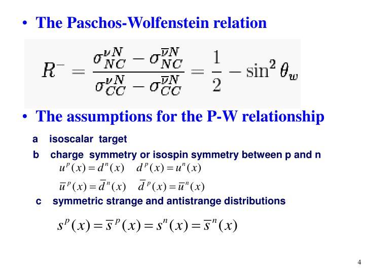 The Paschos-Wolfenstein relation