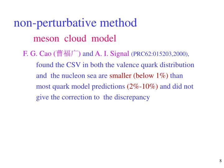 non-perturbative method