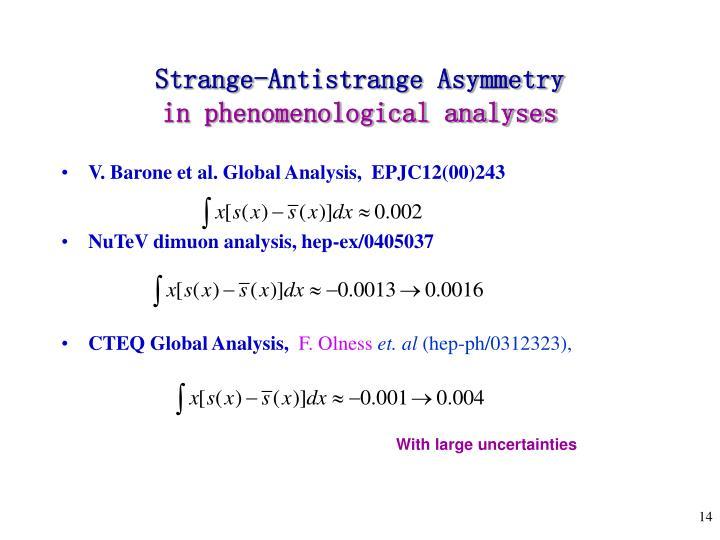 Strange-Antistrange Asymmetry