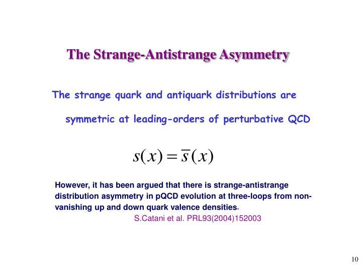 The Strange-Antistrange Asymmetry