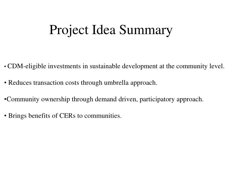 Project Idea Summary