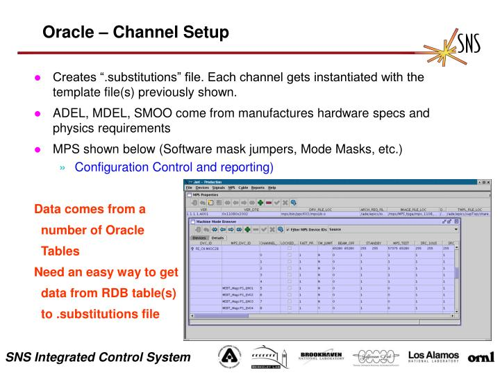 Oracle – Channel Setup