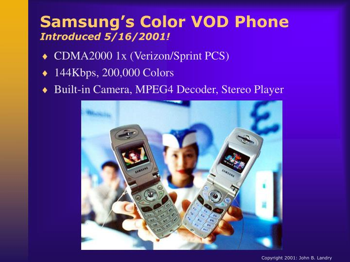 Samsung's Color VOD Phone