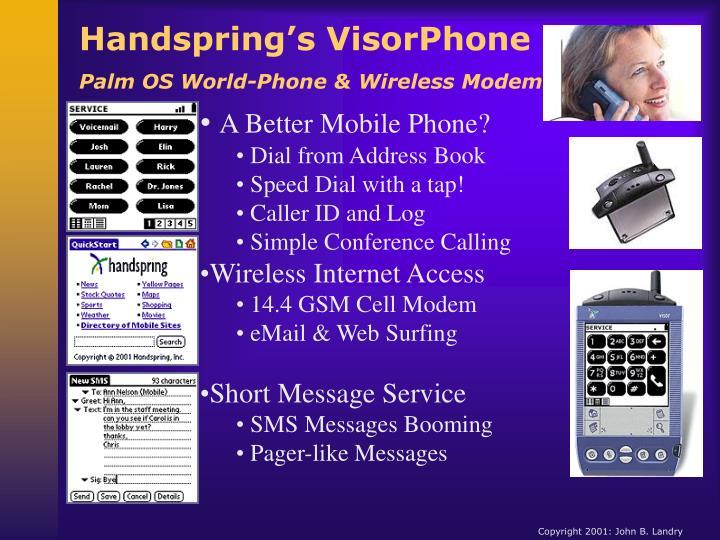 Handspring's VisorPhone
