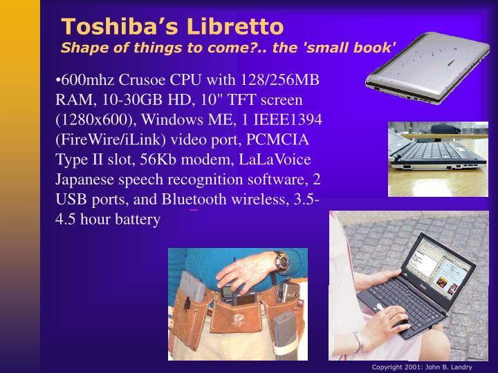 Toshiba's Libretto