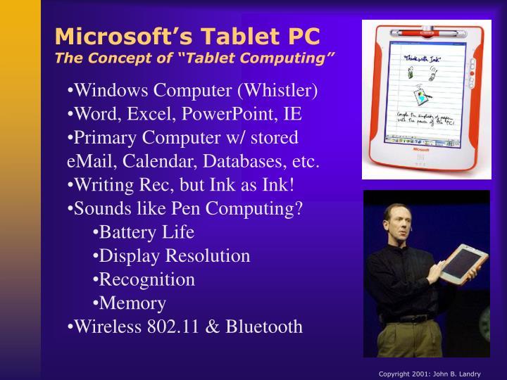 Microsoft's Tablet PC