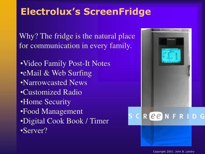 Electrolux's ScreenFridge