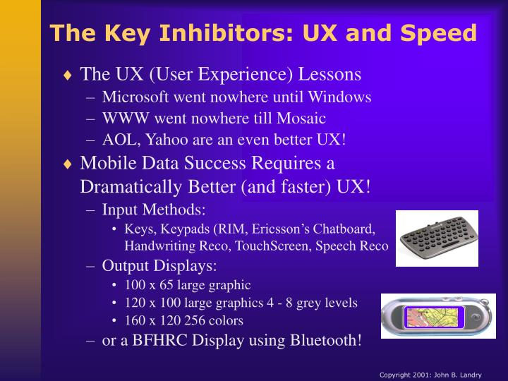 The Key Inhibitors: UX and Speed