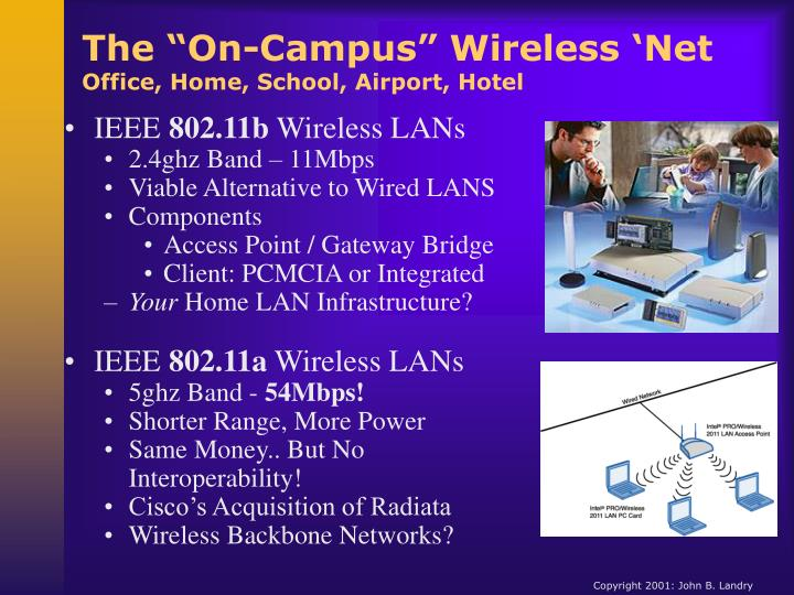 """The """"On-Campus"""" Wireless 'Net"""
