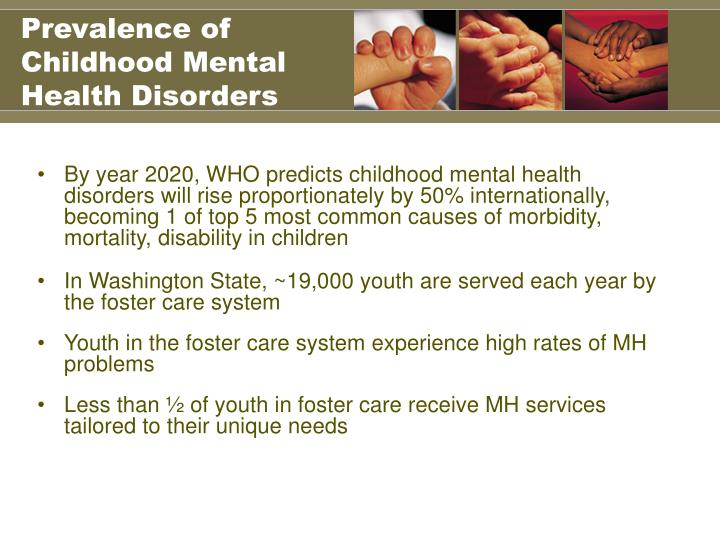 Prevalence of childhood mental health disorders