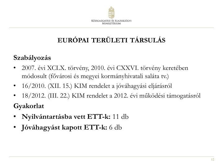 európai területi társulás