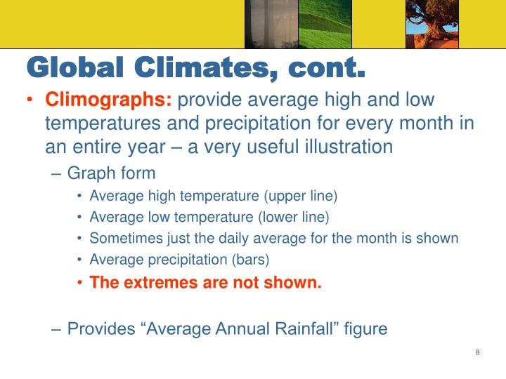 Global Climates, cont.