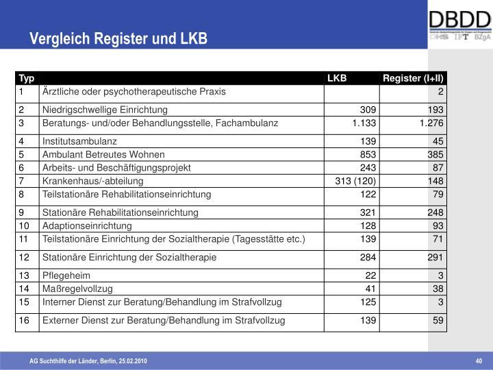 Vergleich Register und LKB