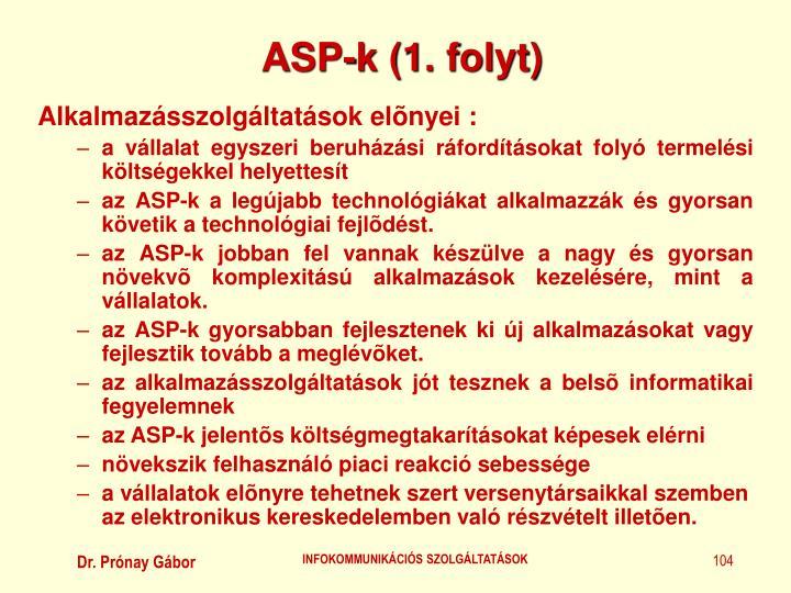 ASP-k (1. folyt)